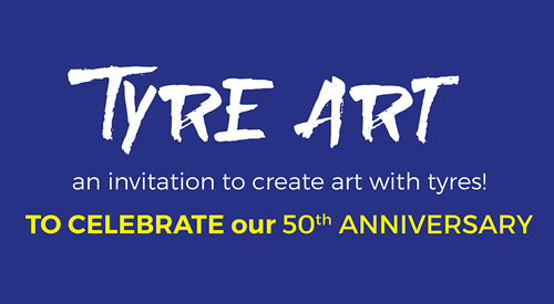 AN INVITATION TO CREATE ART WITH TYRES